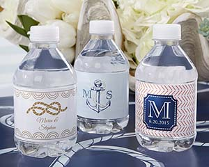 Personalized Water Bottle Labels - Kate's Nautical Wedding C image