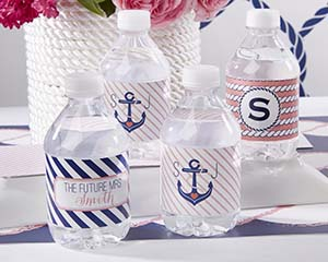 Personalized Water Bottle Labels - Kate's Nautical Bridal Co image