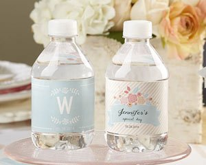 Personalized Water Bottle Labels - Kate's Rustic Bridal Coll image