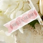 Personalized Wedding Party Straw Flags