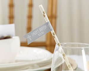 Personalized Religious Party Straw Flags image