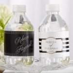 Personalized Classic Wedding Water Bottle Labels