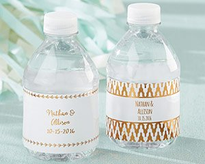 Personalized Water Bottle Labels - Copper Foil image
