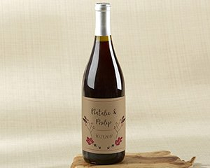 Personalized Fall Wine Bottle Labels image