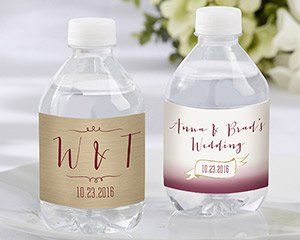 Personalized Vineyard Water Bottle Labels image