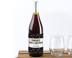 Personalized Wine Bottle Labels - Party Time image