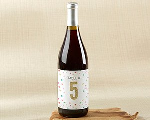 Wine Label Table Numbers - Party Time (1-20) image