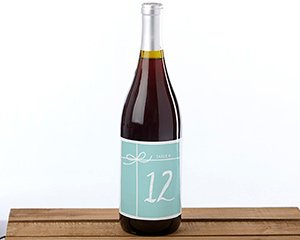 Wine Label Table Numbers Something Blue (1-20) image