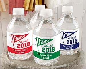 Personalized Water Bottle Labels - Finally! Class of 2020 image
