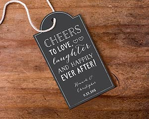 Personalized Chalk Design Statement Favor Tags (Set of 12) image