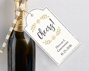 Personalized Classic Laurel Statement Tags (Set of 12) image