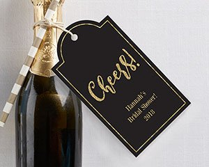 Personalized Gold Glitter Statement Favor Tags (Set of 12) image