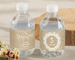 Personalized Water Bottle Labels - Rustic Charm Baby Shower image