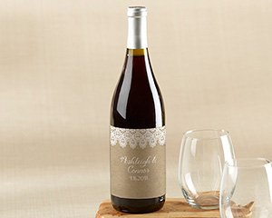 Personalized Wine Bottle Labels - Rustic Charm Wedding image