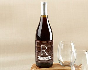 Personalized Wine Bottle Labels - Winter image