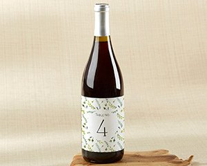 Botanical Garden Wine Label Table Numbers (1-20) image