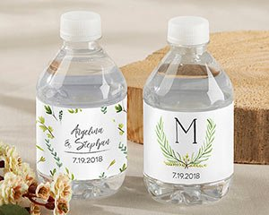Personalized Water Bottle Labels - Botanical Garden image