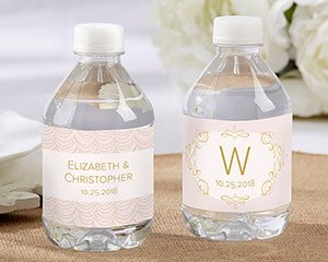Personalized Water Bottle Labels - Modern Romance image