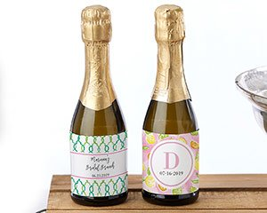 Personalized Mini Wine Bottle Labels - Cheery & Chic image