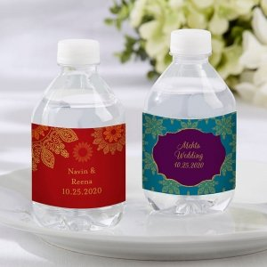 Personalized Indian Jewel Water Bottle Labels image