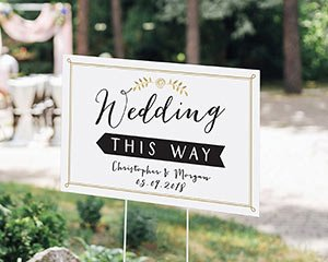Personalized Wedding Directional Sign (18x12) image