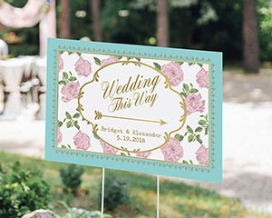 Personalized Tea Time Directional Sign (18x12) image