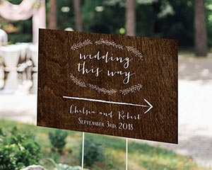 Personalized Rustic Directional Sign (18x12) image