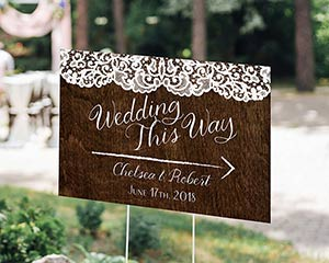 Personalized Directional Sign (18x12) - Country image