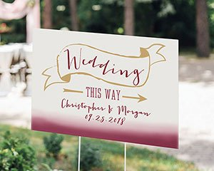 Personalized Vineyard Directional Sign (18x12) image