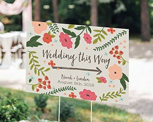 Personalized Vintage Directional Sign (18x12) image