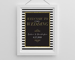 Personalized Classic Wedding Welcome Poster (18x24) image