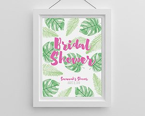 Personalized Poster (18x24) - Pineapples & Palms image