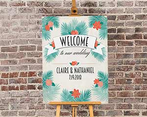 Personalized Tropical Chic Welcome Poster (18x24) image
