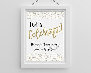 Let's Celebrate Personalized Poster (18x24) image