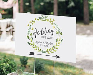 Personalized Directional Sign (18x12) - Botanical Garden image