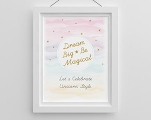 Dream Big and Be Magical Enchanted Party Personalized Poster image