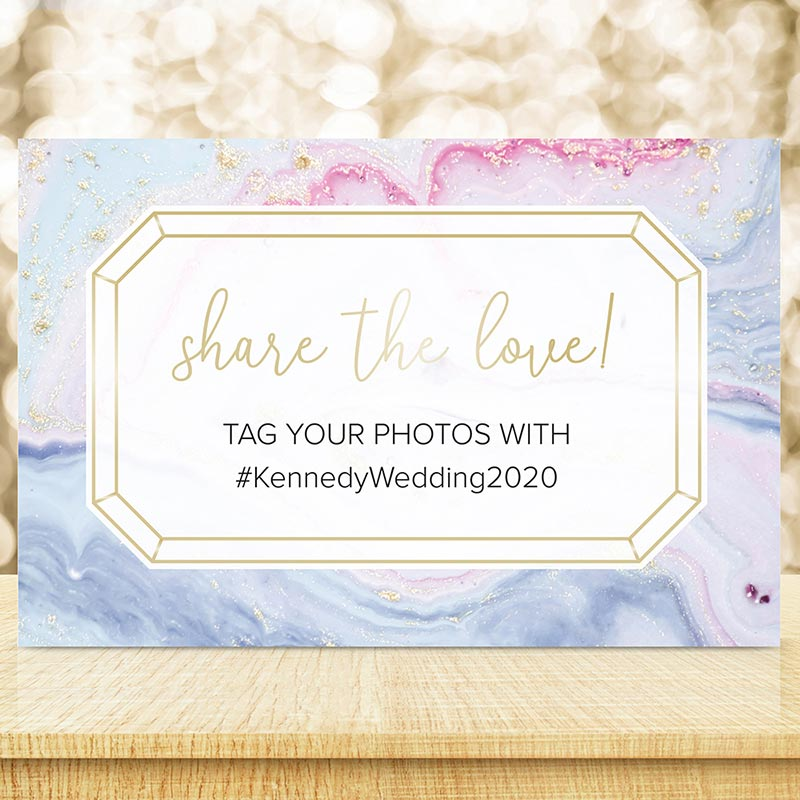 Personalized Elements Photo Booth or Hashtag Sign (18x12) image