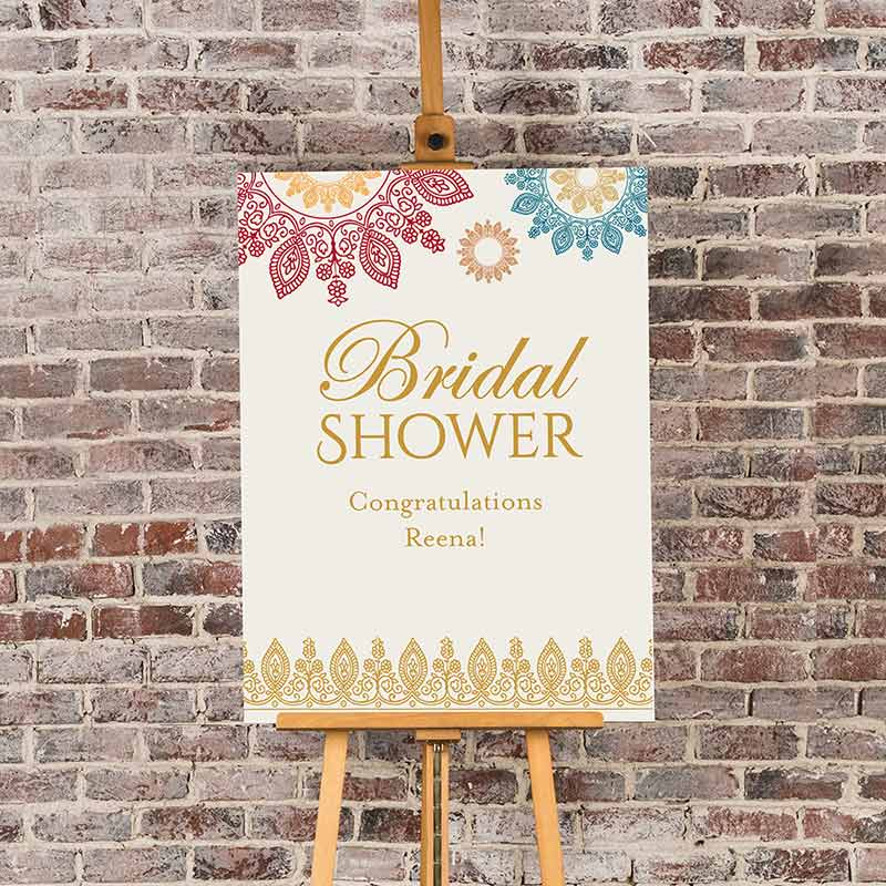 Personalized Indian Jewel Bridal Shower Poster (18x24) image