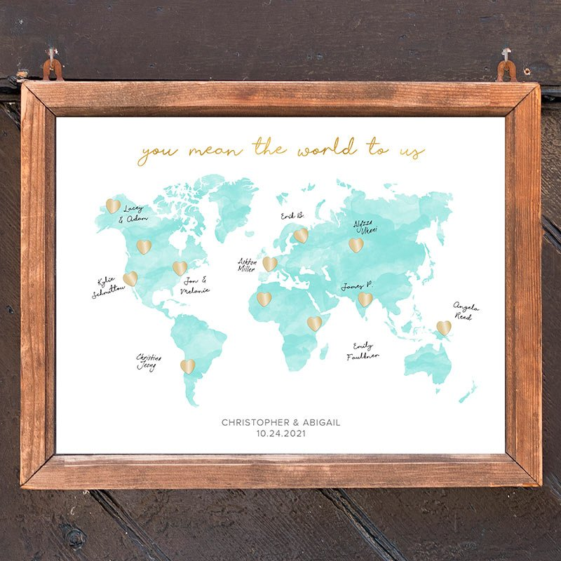 Personalized Wedding Guest Book Alternative - Map image