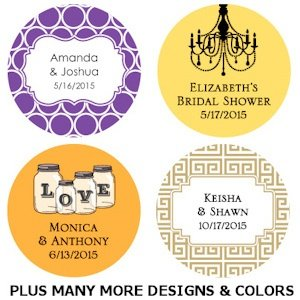 Personalized Round Wedding Favor Tags (Set of 48) image