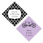 Personalized Diamond Tags for Wedding Favors (Set of 36)