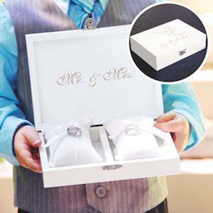 Personalized Tie the Knot Ring Bearer Pillow Keepsake Box image