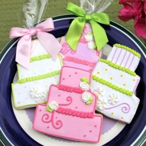 Wedding Cake Cookie Favors image