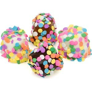 Chocolate Covered Marshmallows with Confetti image