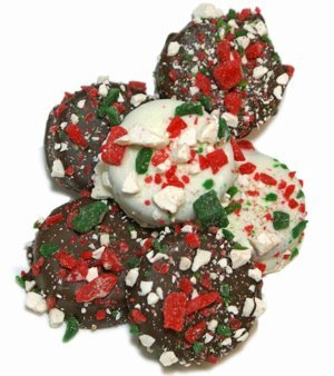 Chocolate Dipped Oreos - Candy Cane Sprinkles image
