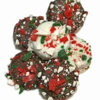 Chocolate Dipped Oreos - Candy Cane Sprinkles