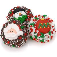 Chocolate Covered Christmas Oreo Favors