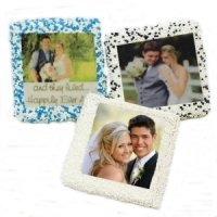 Chocolate Covered Wedding Half Graham Photo Favors