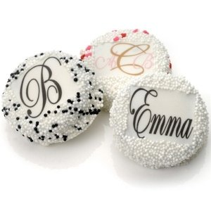 Monogram Wedding Oreo Cookie Favors image
