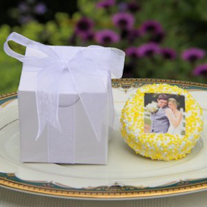 Gift Boxed Wedding Photo Oreo Favors image